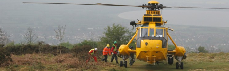 RAF Search and Rescue 163 helicopter